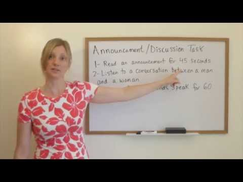 TOEFL Lesson – Speaking Question #3 with Kathy