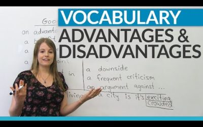 Vocabulary: How to talk about ADVANTAGES and DISADVANTAGES