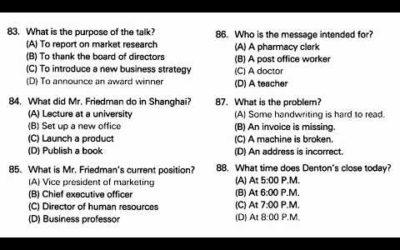 TOEIC® Online Practice Test – part 4 test 1