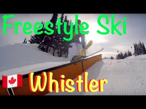 【ウィスラースキー&語学留学】Whistler Freestyle Ski 初心者から上級者まで参加できるCSBAのスキー留学。フリースタイルスキーヤーの授業風景