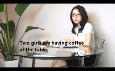 Yuki's TOEIC Love☆  「女の子がコーヒーを飲んでいる」と英語で言う