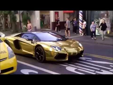 ロス・アメリカ生活  海外情報 金色のランボルギーニ Golden Lamborghini  英語語学大学留学旅行の参考に